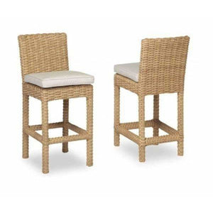 Sunset West Leucadia Outdoor Barstool with Cushion - Outdoor Dining Chair