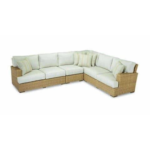 Sunset West Leucadia Outdoor Sectional with Cushions - Outdoor Sofa