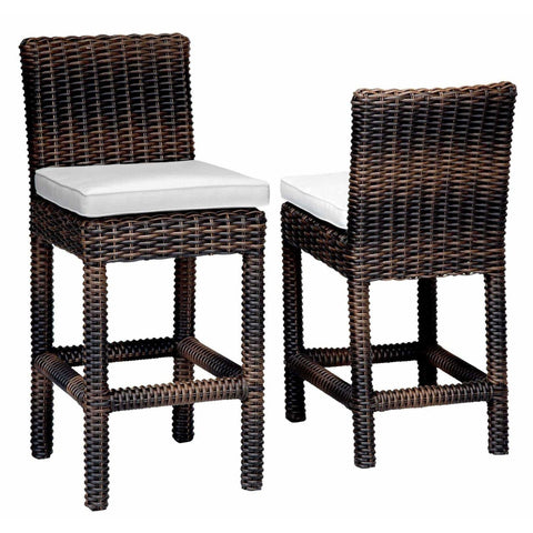 Image of Sunset West Montecito Outdoor Barstool with Cushion - Outdoor Barstool