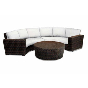 Sunset West Montecito Outdoor Curved Loveseat Collection - Outdoor Lounge Sets