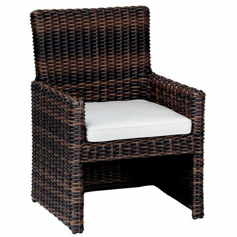Sunset West Montecito Outdoor Dining Chair with Cushion - Outdoor Dining Chair