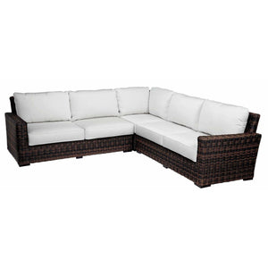 Sunset West Montecito Outdoor Sectional with Cushions - Outdoor Sofa