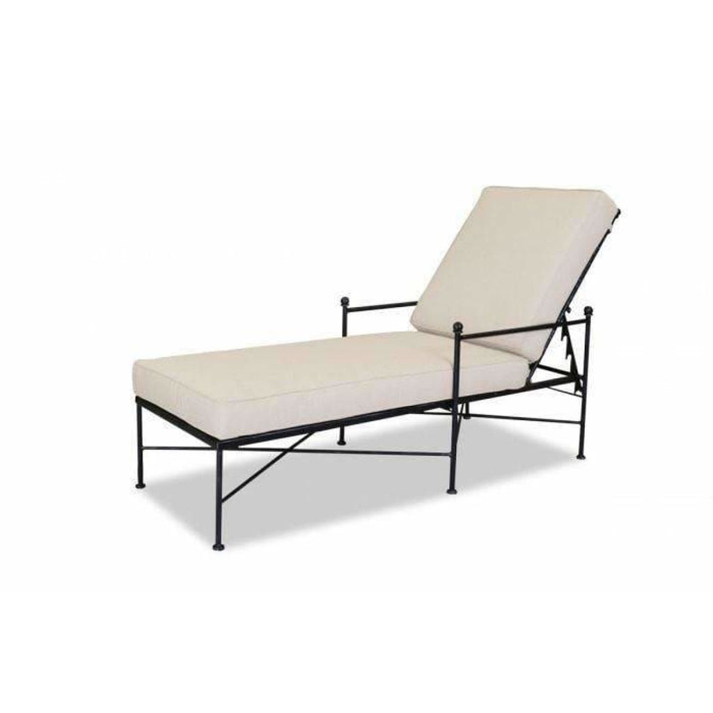 Sunset West Provence Outdoor Chaise Lounge with Cushions - Chaise Lounge Chair