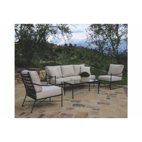 Sunset West Provence Outdoor Sofa Collection with Rocker - Outdoor Lounge Sets