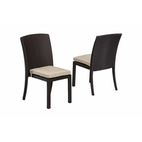 Sunset West Solana Armless Outdoor Dining Chair - Outdoor Dining Chair