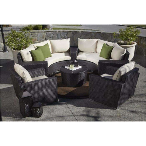 Sunset West Solana Half Round Outdoor Sofa and Chair Collection - Outdoor Sofa