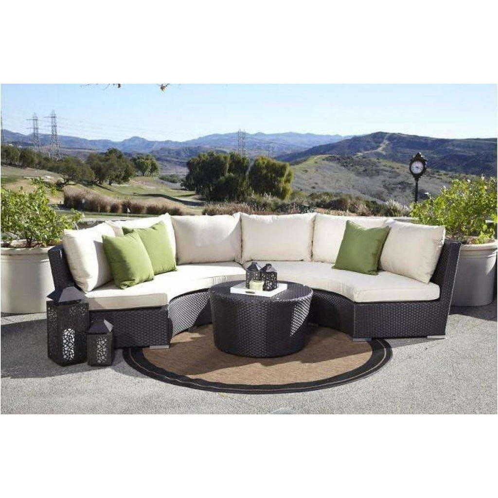 Sunset West Solana Half Round Outdoor Sofa Collection - Outdoor Sofa
