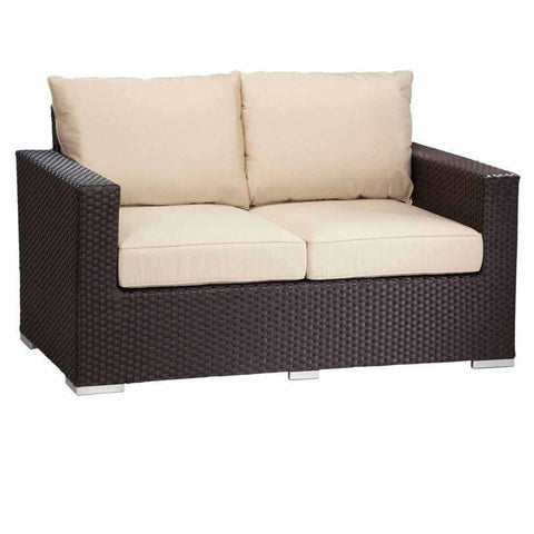Sunset West Solana Loveseat with Cushions - Outdoor Sofa