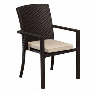 Sunset West Solana Outdoor Dining Chair with Arm - Outdoor Dining Chair