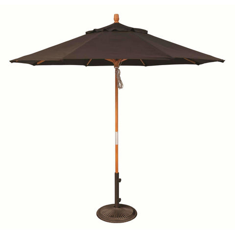 Treasure Garden 9ft Wooden Umbrella - Commercial Umbrellas