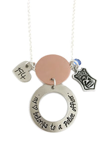 My Heart Belongs to a Police Officer - Husband and Wife LEOW Personalized Necklace
