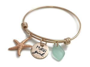 Maui Girl Rose Gold Bangle Bracelet