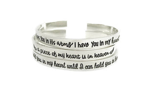 God Has You In His Arms Memorial Cuff