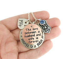Load image into Gallery viewer, My Heart Belongs to a Police Officer - Husband and Wife LEOW Personalized Necklace