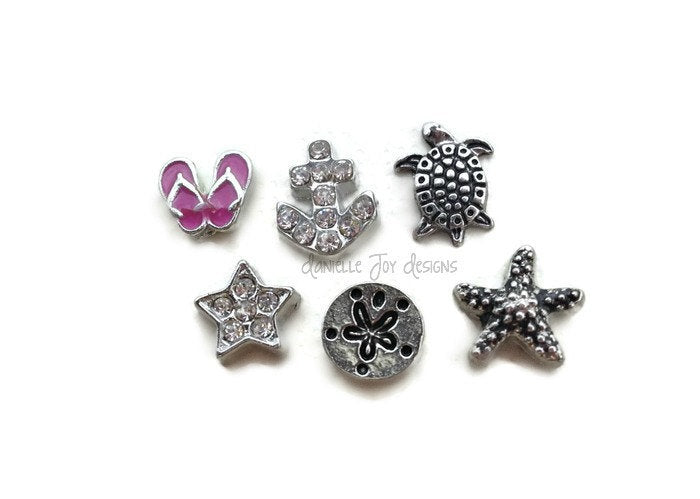 LOCKET CHARMS - Add Beach Themed Charms To Your Floating Locket