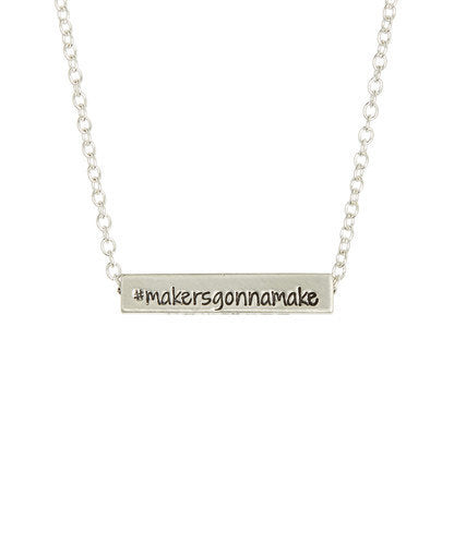 Girlboss 4 Sided Horizontal Bar Necklace