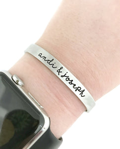 Personalized Name Cuff - Choose Your Style