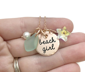 Beach Girl Rose Gold Necklace