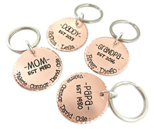Load image into Gallery viewer, Established Daddy Keychain - Copper