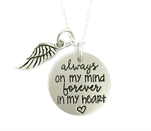 Always On My Mind Forever In My Heart Necklace