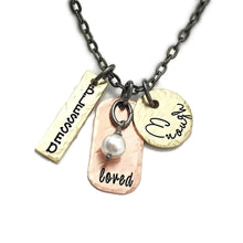 Load image into Gallery viewer, Mixed Metal Motivational Necklace