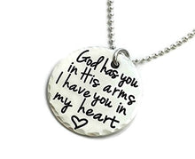 Load image into Gallery viewer, God Has You In His Arms I Have You In My Heart - Sterling Silver Necklace