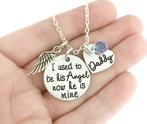 I Used To Be His Angel Now He Is Mine Necklace