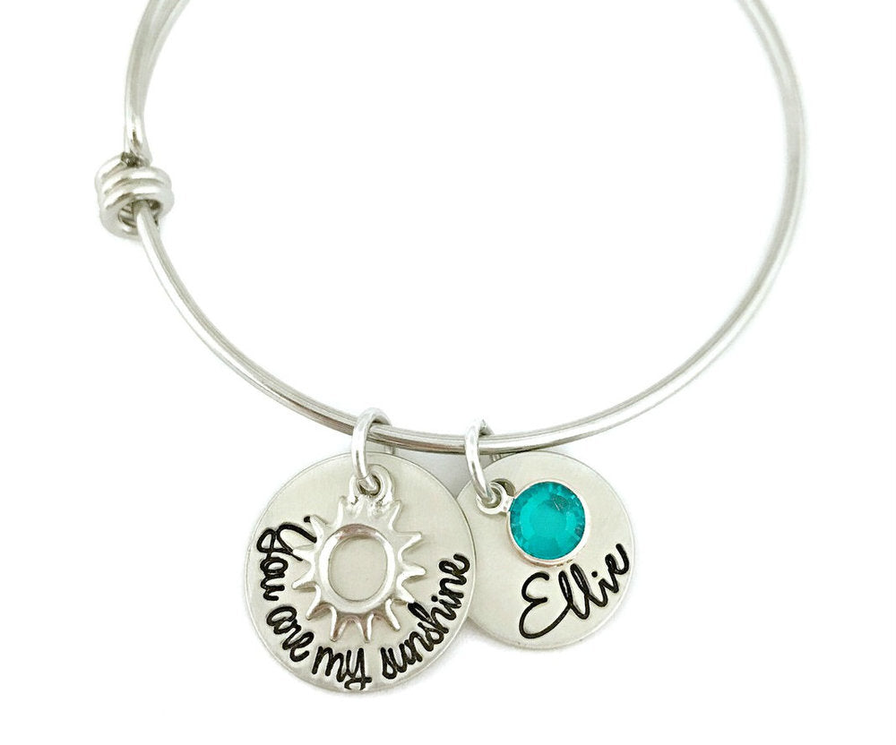 You Are My Sunshine Personalized Bangle