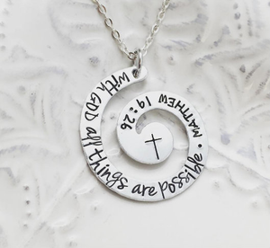 With GOD All Things Are Possible - Matthew 19:26 Necklace
