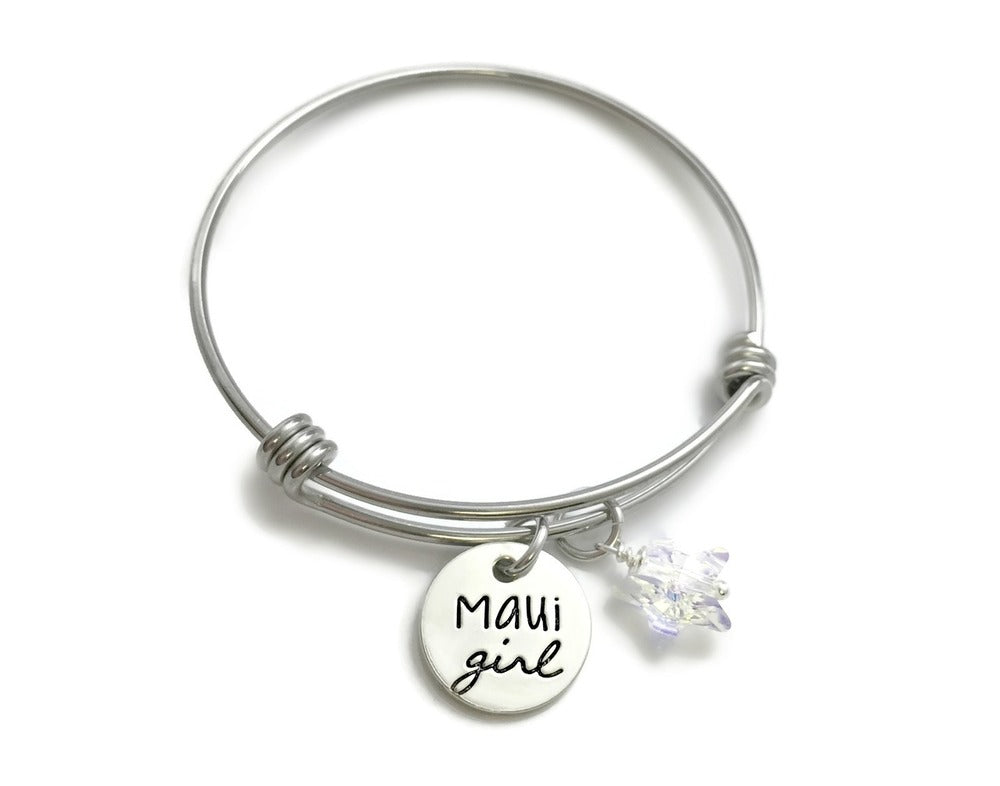Maui Girl Swarovski Star Bangle Bracelet