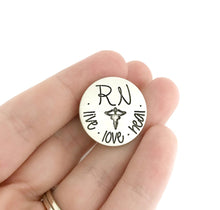 Load image into Gallery viewer, Personalized Nursing Pin - Pinning Ceremony - RN LPN CNA BSN Custom Pin