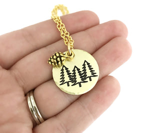 Tree Necklace - Nature Jewelry - PNW Necklace