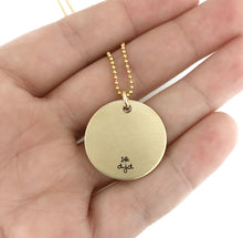 Load image into Gallery viewer, I Will Hold You In My Heart Until I Can Hold You In Heaven - 14k Solid Gold Lg. Necklace