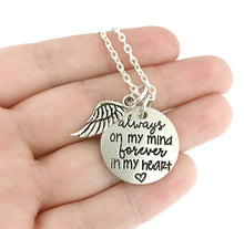Load image into Gallery viewer, Always On My Mind Forever In My Heart Necklace
