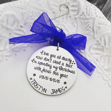 Load image into Gallery viewer, Personalized Memorial Christmas Ornament - Silver Tone