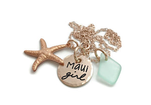 Maui Girl Rose Gold Necklace