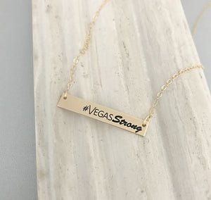 Vegas Strong Gold Bar Necklace