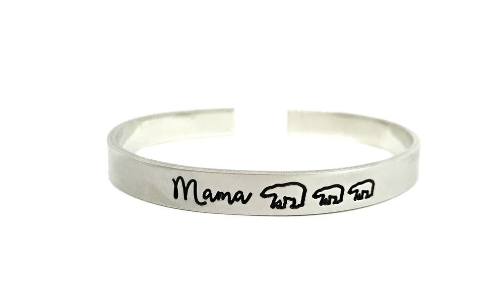 Mama Bear and Cubs Cuff
