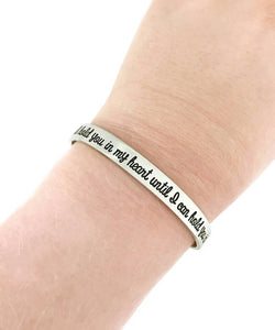I Will Hold You In My Heart Memorial Cuff