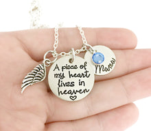Load image into Gallery viewer, A Piece of My Heart Lives in Heaven Necklace