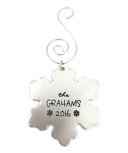 2017 Snowflake Christmas Ornament