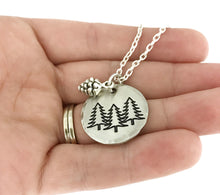 Load image into Gallery viewer, Tree Necklace - Nature Jewelry - PNW Necklace