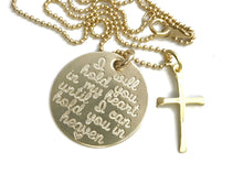 Load image into Gallery viewer, I Will Hold You In My Heart Until I Can Hold You In Heaven Cross - 14k Solid Gold Necklace