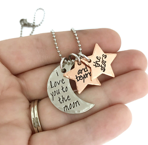 I Love You To The Moon And Beyond The Stars Necklace