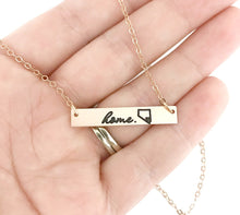 Load image into Gallery viewer, Vegas Strong - Vegas is Home - Pray For Vegas Rose Gold Bar Necklace