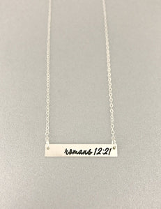 Sterling Silver Name Bar Necklace - Initial Necklace - Bridesmaid Gift - Gift For Her