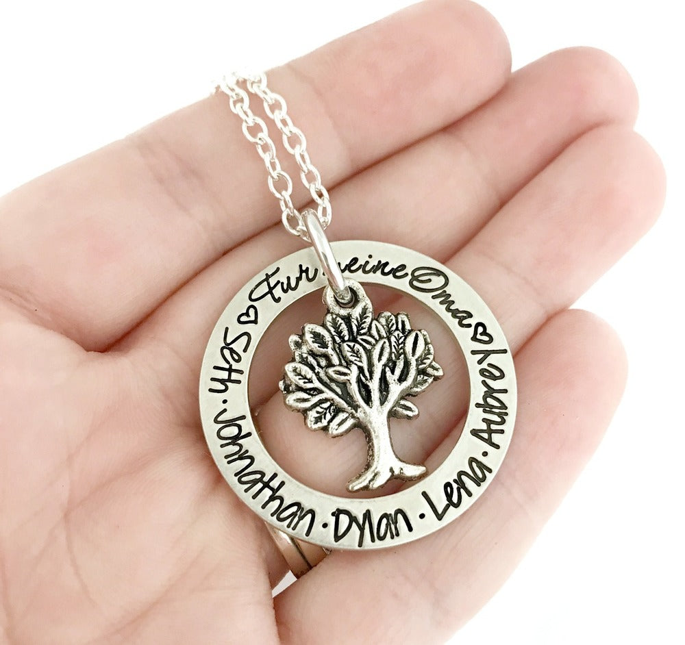 Family Tree of Life - Personalized Mother Grandma Necklace
