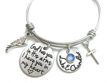 Load image into Gallery viewer, God Has You In His Arms I Have You In My Heart Bangle Bracelet