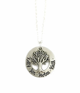 Family Tree Necklace - Silver Tree