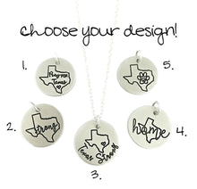 Load image into Gallery viewer, Hurricane Harvey Relief - Texas Strong - Pray For Texas - Texas is Home - Texas Rescue Animals Necklace